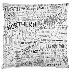 Panic At The Disco Lyrics Large Cushion Case (one Side) by Onesevenart