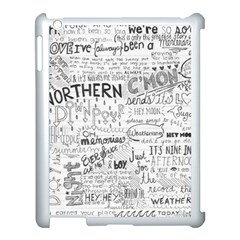 Panic At The Disco Lyrics Apple Ipad 3/4 Case (white) by Onesevenart
