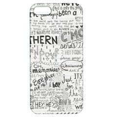 Panic At The Disco Lyrics Apple Iphone 5 Hardshell Case With Stand by Onesevenart