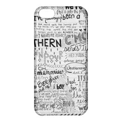 Panic At The Disco Lyrics Apple Iphone 5c Hardshell Case by Onesevenart