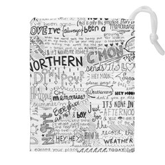 Panic At The Disco Lyrics Drawstring Pouches (xxl) by Onesevenart