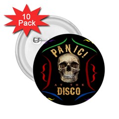 Panic At The Disco Poster 2 25  Buttons (10 Pack)  by Onesevenart