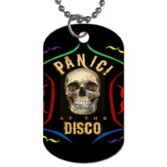 Panic At The Disco Poster Dog Tag (one Side) by Onesevenart