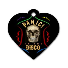 Panic At The Disco Poster Dog Tag Heart (one Side) by Onesevenart
