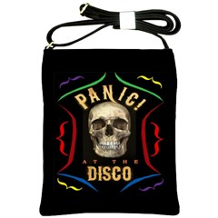 Panic At The Disco Poster Shoulder Sling Bags by Onesevenart