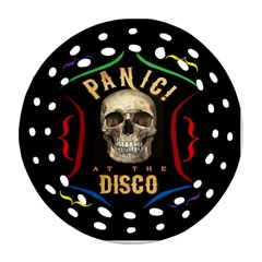 Panic At The Disco Poster Round Filigree Ornament (two Sides) by Onesevenart
