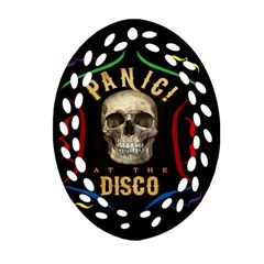 Panic At The Disco Poster Ornament (oval Filigree) by Onesevenart