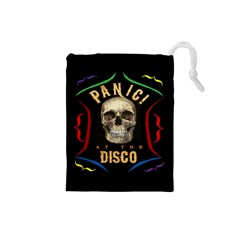Panic At The Disco Poster Drawstring Pouches (small)  by Onesevenart