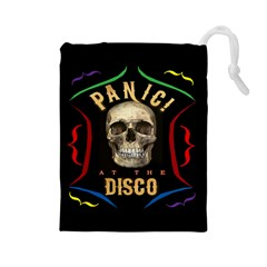 Panic At The Disco Poster Drawstring Pouches (large)  by Onesevenart