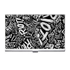 Panic At The Disco Lyric Quotes Retina Ready Business Card Holders by Onesevenart
