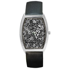 Panic At The Disco Lyric Quotes Retina Ready Barrel Style Metal Watch by Onesevenart