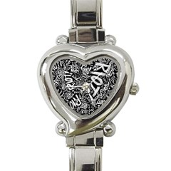 Panic At The Disco Lyric Quotes Retina Ready Heart Italian Charm Watch by Onesevenart