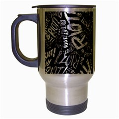 Panic At The Disco Lyric Quotes Retina Ready Travel Mug (silver Gray) by Onesevenart
