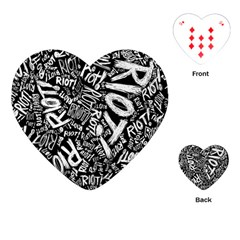 Panic At The Disco Lyric Quotes Retina Ready Playing Cards (heart)  by Onesevenart