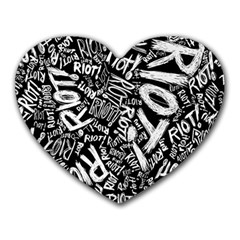 Panic At The Disco Lyric Quotes Retina Ready Heart Mousepads by Onesevenart
