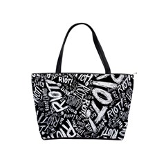 Panic At The Disco Lyric Quotes Retina Ready Shoulder Handbags by Onesevenart