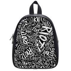 Panic At The Disco Lyric Quotes Retina Ready School Bag (small) by Onesevenart