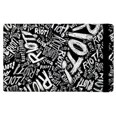 Panic At The Disco Lyric Quotes Retina Ready Apple Ipad 3/4 Flip Case by Onesevenart