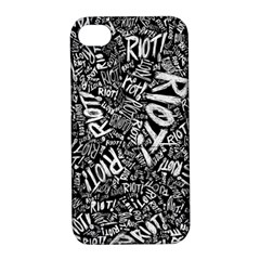 Panic At The Disco Lyric Quotes Retina Ready Apple Iphone 4/4s Hardshell Case With Stand by Onesevenart