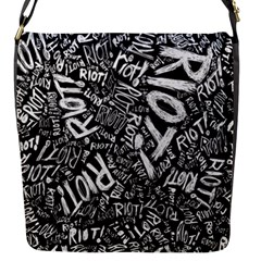 Panic At The Disco Lyric Quotes Retina Ready Flap Messenger Bag (s) by Onesevenart