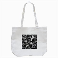 Panic At The Disco Lyric Quotes Retina Ready Tote Bag (white) by Onesevenart