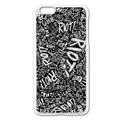 Panic At The Disco Lyric Quotes Retina Ready Apple Iphone 6 Plus/6s Plus Enamel White Case by Onesevenart
