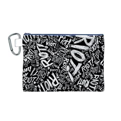Panic At The Disco Lyric Quotes Retina Ready Canvas Cosmetic Bag (m) by Onesevenart