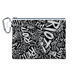 Panic At The Disco Lyric Quotes Retina Ready Canvas Cosmetic Bag (l) by Onesevenart