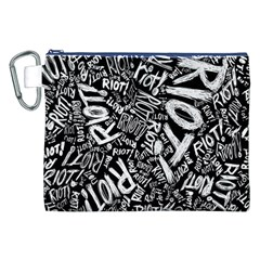 Panic At The Disco Lyric Quotes Retina Ready Canvas Cosmetic Bag (xxl) by Onesevenart