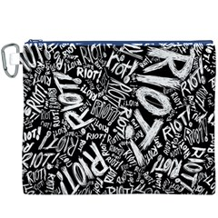 Panic At The Disco Lyric Quotes Retina Ready Canvas Cosmetic Bag (xxxl) by Onesevenart