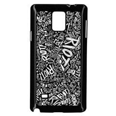Panic At The Disco Lyric Quotes Retina Ready Samsung Galaxy Note 4 Case (black) by Onesevenart
