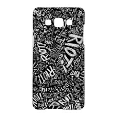 Panic At The Disco Lyric Quotes Retina Ready Samsung Galaxy A5 Hardshell Case  by Onesevenart