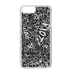 Panic At The Disco Lyric Quotes Retina Ready Apple Iphone 7 Plus White Seamless Case by Onesevenart