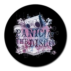 Panic At The Disco Art Round Mousepads by Onesevenart