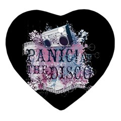 Panic At The Disco Art Ornament (heart) by Onesevenart
