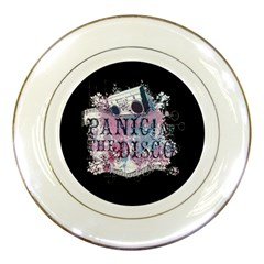 Panic At The Disco Art Porcelain Plates by Onesevenart