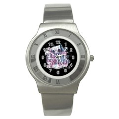 Panic At The Disco Art Stainless Steel Watch by Onesevenart