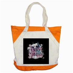 Panic At The Disco Art Accent Tote Bag by Onesevenart