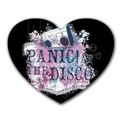Panic At The Disco Art Heart Mousepads by Onesevenart
