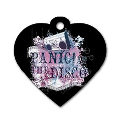 Panic At The Disco Art Dog Tag Heart (two Sides) by Onesevenart