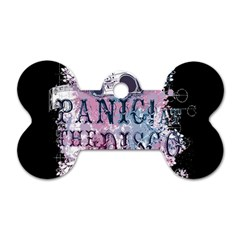Panic At The Disco Art Dog Tag Bone (one Side) by Onesevenart