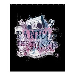 Panic At The Disco Art Shower Curtain 60  X 72  (medium)  by Onesevenart