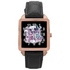 Panic At The Disco Art Rose Gold Leather Watch  by Onesevenart