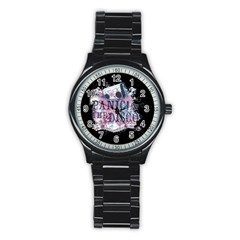 Panic At The Disco Art Stainless Steel Round Watch by Onesevenart