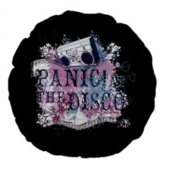 Panic At The Disco Art Large 18  Premium Flano Round Cushions by Onesevenart