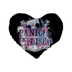 Panic At The Disco Art Standard 16  Premium Flano Heart Shape Cushions by Onesevenart