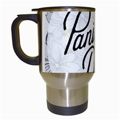 Panic At The Disco Flowers Travel Mugs (white) by Onesevenart