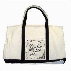 Panic At The Disco Flowers Two Tone Tote Bag by Onesevenart