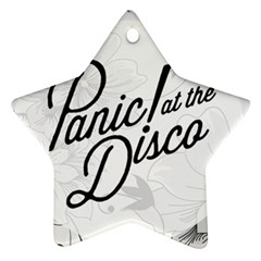 Panic At The Disco Flowers Star Ornament (two Sides) by Onesevenart