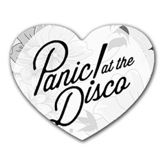 Panic At The Disco Flowers Heart Mousepads by Onesevenart